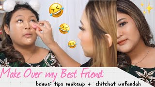 STEFANY SANG MUA HANDAL + BEST FRIEND MAKEOVER