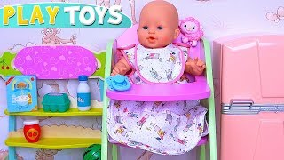 Play Baby Born Doll Morning Routine with Dress up for Birthday Party!