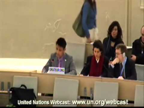 Amran Hussain, a muslim, speaks in support of Israel at the UN