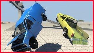GAME ô tô mô phỏng - Phá nát xe ô tô bán tải, xe hơi chỉ bằng 1 cú lộn nhào