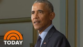 Barack Obama Hits Campaign Trail, Breaks Silence On President Donald Trump | TODAY