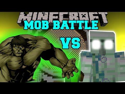 THE HULK VS EMERALD HULK - Minecraft Mob Battles - Mod Battle - Minecraft Mods