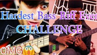[Davie504] Hardest Bass Riff EVER(Cover) By MANE BASS/CHALLENGE. #Davie504