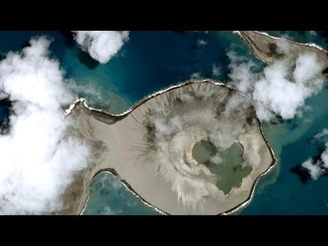 Volcano spawns brand new island in the Pacific