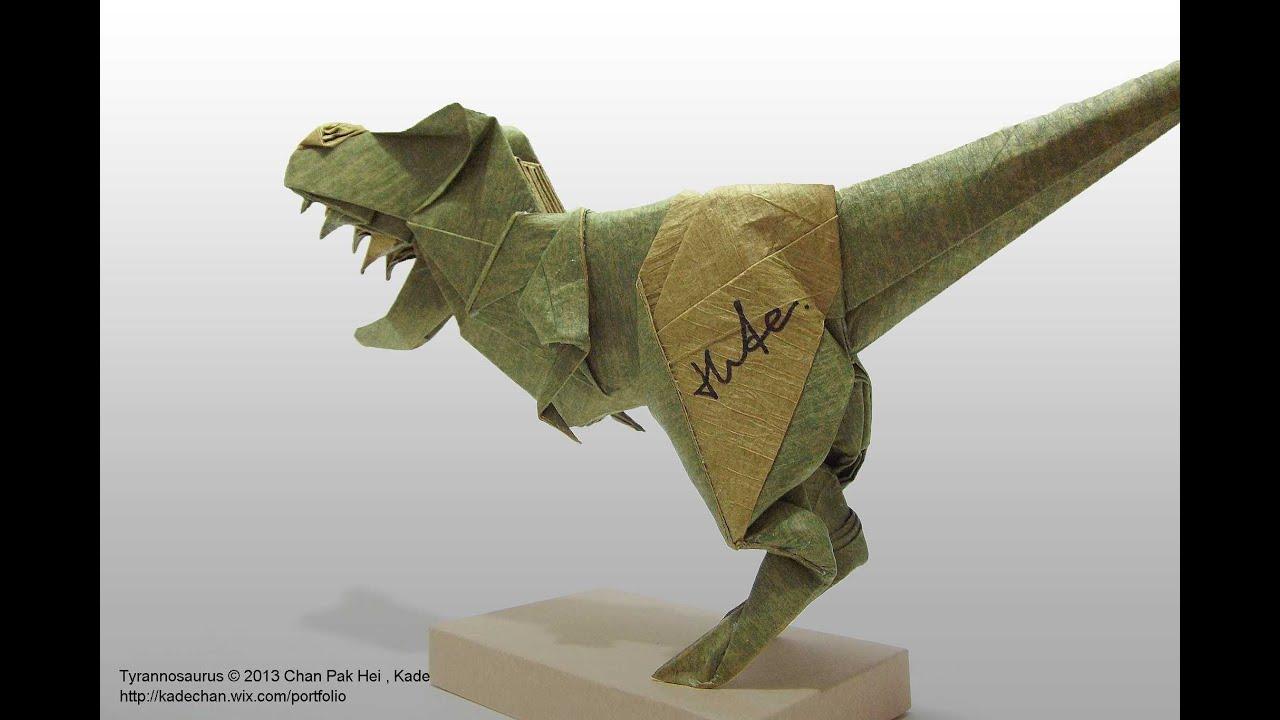 Easy t Rex Origami Origami T-rex 摺紙霸王龍(kade