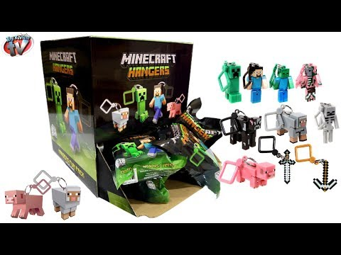 Minecraft Hangers Mystery Surprise Blind Bag Toy Review & Opening, Just Toys Intl, Steve, Creeper