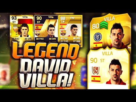 FIFA 15 - CREATING LEGEND DAVID VILLA! (FIFA 15 ULTIMATE TEAM +10 ATTRIBUTES)