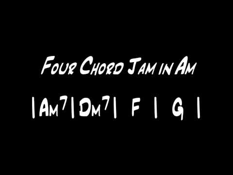 Am Backing Track - Four Chord Jam in Am