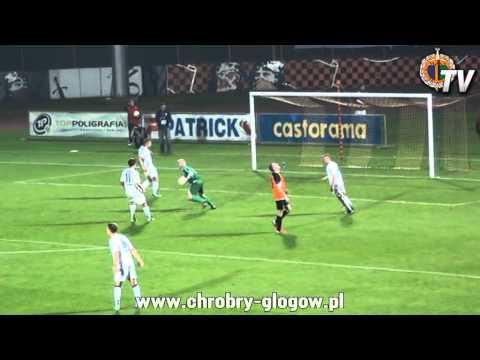 14.09.2013 Skrót Meczu Chrobry Głogów - Błękitni Stargard Szczeciński 2-0