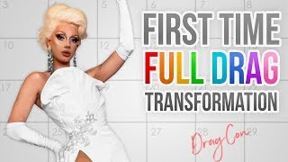 First Time In Full Drag Transformation