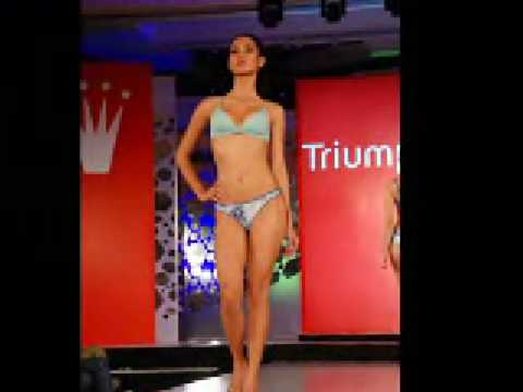 HOT Sizzling Models scorch the runway for Trimph Lingerie show