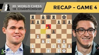 Carlsen vs Caruana (Game 4 Analysis) | World Chess Championship 2018