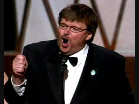 Michael Moore speech on fiction, given during Oscar ceremony