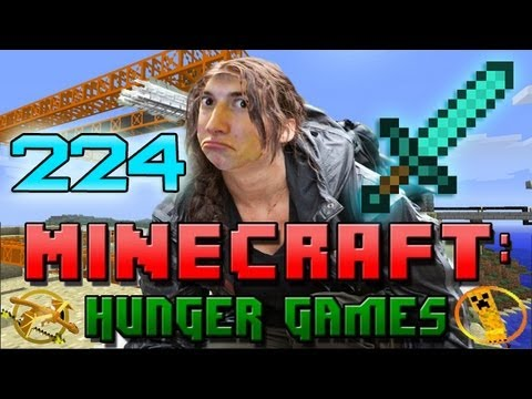 Minecraft: Hunger Games w Mitch Game 224 DIAMOND SWORD