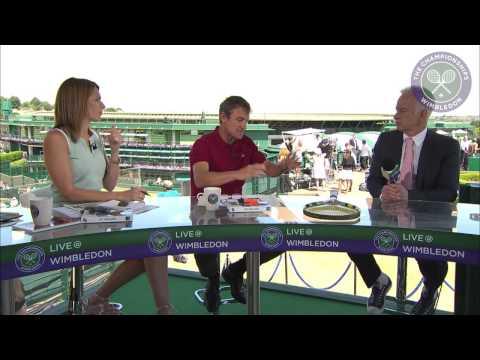 John McEnroe visits the Live @ Wimbledon studio