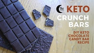 Keto Crunch Bar Chocolates | Low-Carb Candy Bar Recipe