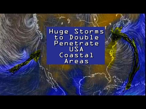 Alert! USA Weather Bomb! Huge Storms to double Penetrate the USA! East & West Coast!