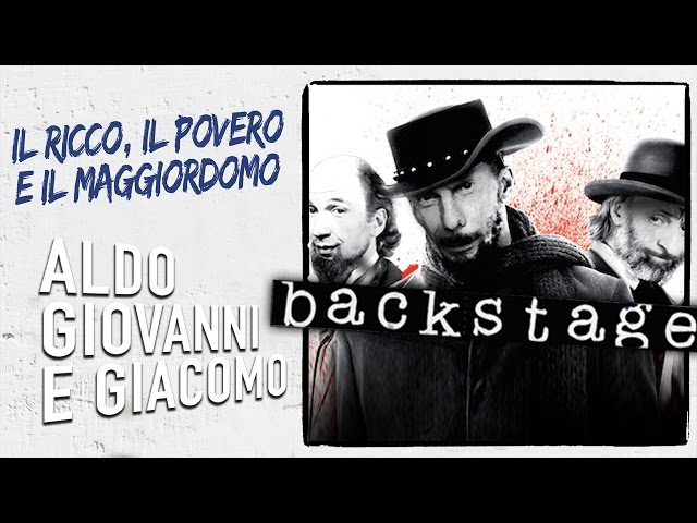 Django - Backstage da Il Ricco, il Povero e il Maggiordomo