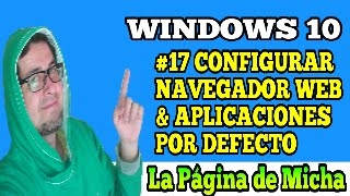 configurar navegador o aplicaciones por defecto windows 10