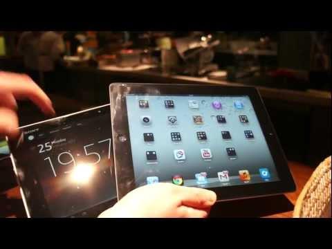 Sony Xperia Tablet Z vs. iPad Vergleich Kurztest