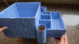 Useful Organiser from Waste Cardboard Box - Best Use of Old Carton