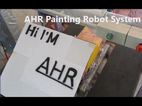 สอนหุ่นยนต์เขียนหนังสือ / AHR Say Hi