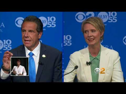 Cuomo, Nixon spar in gubernatorial debate