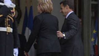 Hillary Clinton in France for security talks