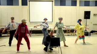 Old people dance to Thriller!