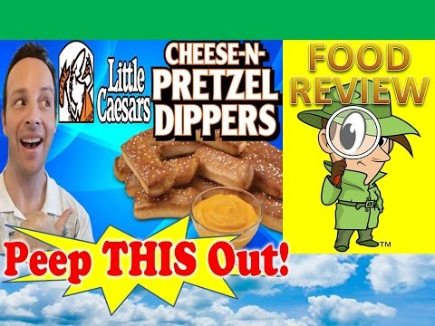 Little Caesars® Cheese-N-Pretzel Dippers Review! Peep THIS Out!