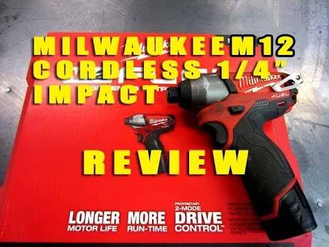 TOOL REVIEW - M12 Milwaukee 1/4