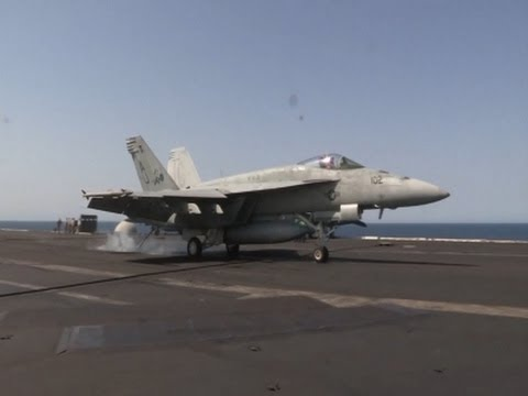 Raw: Navy Jets Participate in Iraq Missions