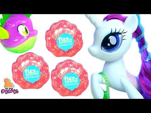 Новая РАРИТИ #Русалочки из Ракушек Бомбочек Литл Пони Мультик Little Pony & MERMAIDS from FIZZ BALLS