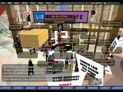 SecondLife Copybot Protest