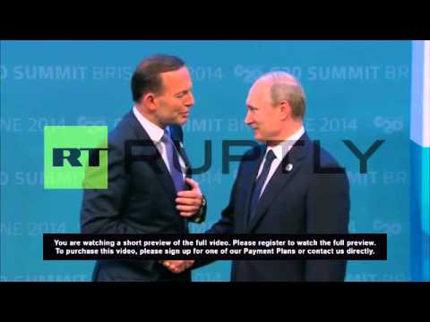 Australia: Abbott greets Putin at G-20 with a handshake, not a