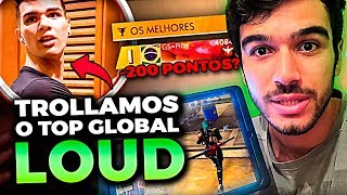 -200 PONTOS?! TROLLAMOS O TOP 1 GLOBAL PERDENDO RANKEADA NA CONTA DELE!! FREE FIRE