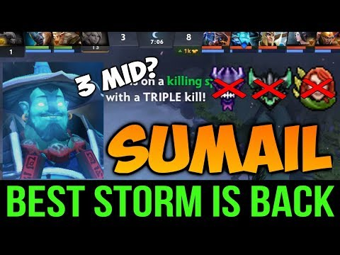 The Reason why Sumail is Best Storm Spirit, Even 3 Man Mid Can't Stop Him