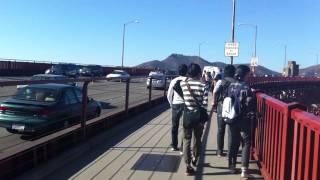 Walk across Golden Gate bridge, San Francisco