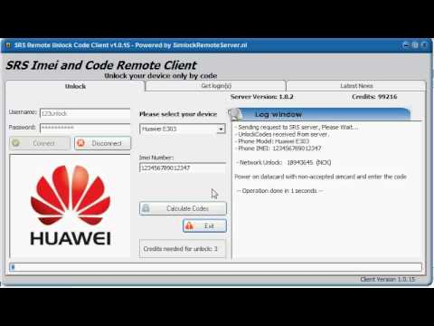 SRS: Unlock Huawei Modem E303 with 2012 security