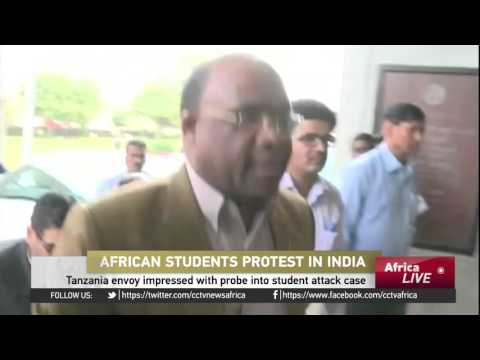 African students protest over mob attack on Tanzanian student in India
