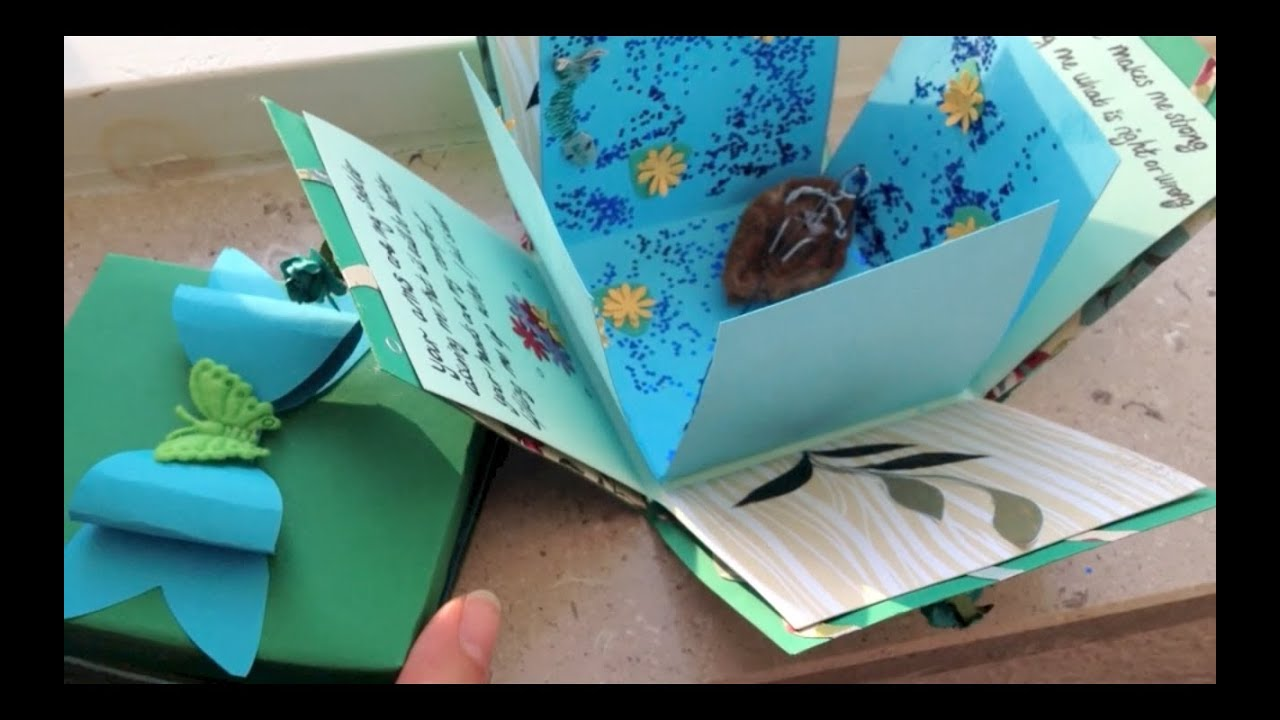 Exploding box card and bow DIY - YouTube