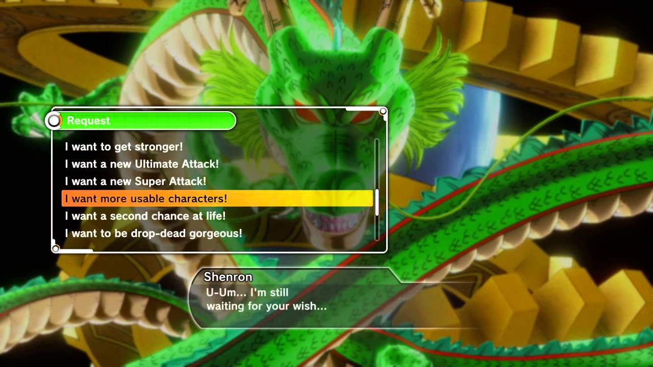 DRAGON BALL XENOVERSE wishes
