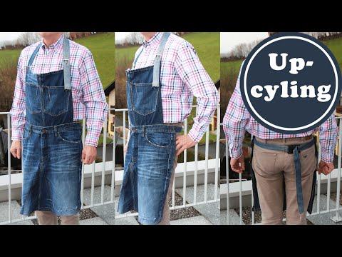 Schürze Für Den Grill Aus Einer Alten Jeans Nähen | Upcycling | Nähen Für Männer