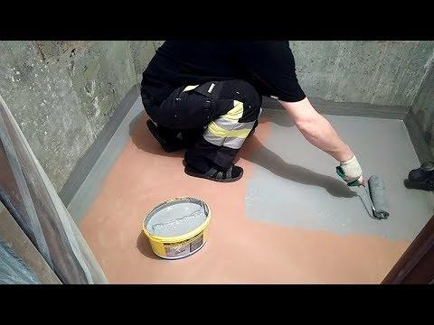 Гидроизоляция в ванной перед укладкой плитки на наливной пол. Ремонт ванной комнаты. Часть 5