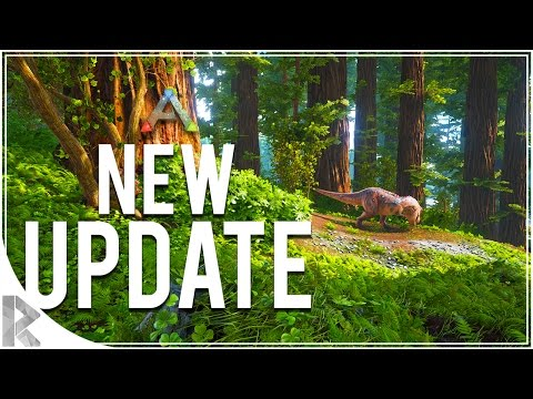 NEW UPDATE, RED WOOD BIOME, TREE PLATFORMS, TITANOSAUR! - Ark Survival Evolved (PVP Gameplay S7P46)
