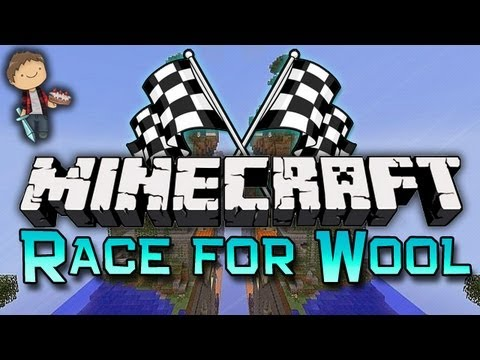 Minecraft: Race For Wool Mini-Game w/Mitch & Friends! Part 1 of 2!