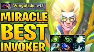 MIRACLE - THE BEST INVOKER IN THE WORLD Dota 2 7.17