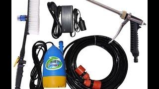 máy rửa xe mini 12v áp lực cao, bơm chìm tự động