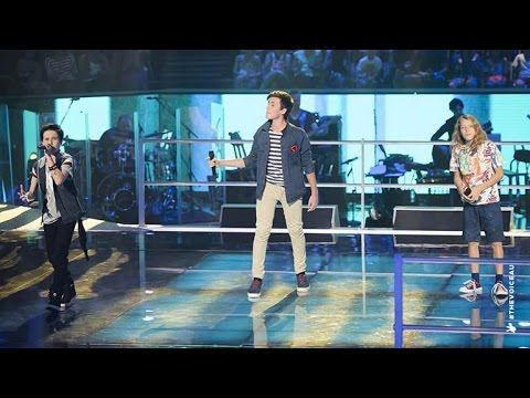 Jack L, Chris and Jack H Sing Wake Me Up | The Voice Kids Australia 2014