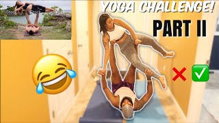 COUPLES YOGA CHALLENGE | AFTER GAINING HAPPY WEIGHT